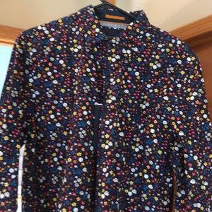Men's Denim & Flower floral button down shirt, M